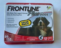 Frontline Plus for Dogs 6 Doses 89 132 Lbs New Sealed $37.99