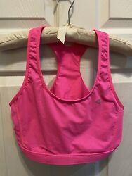 Champion Sports Bra Large Hot Neon Pink Mesh Reversible Trendy Workout Running $13.50