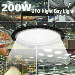 LED UFO High Bay Light 200W 20000LM Industrial Commercial Lighting Fixture 110V