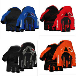 Fingerless Motorcycle Gloves Cycling Racing Half Finger Protective Sports Gloves $11.99
