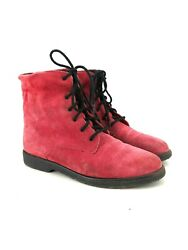 Canada North Womens Waterproof Red Suede Gray Wool Rain Boots Size 10 Granny $27.99