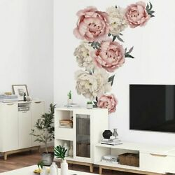 Wall Stickers Flowers Decor Home Flowers Room Removable Mural DIY Sticker Decal $8.99
