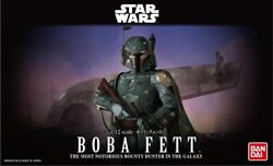 Bandai 1 12 Star Wars Boba Fett Plastic Model Kit 2439797 $35.99