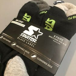 Starter DRI STAR Socks Mens Arch Support Cushioned Shoe size 6 12 Pack $17.00