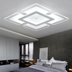 Contemporary Square Acrylic Flush Mount Ceiling Lamp LED Chandelier for Bedroom $54.99