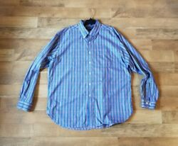Brooks Brothers extra long XL made USA Country Club Egyptian cotton Woven Italy $14.99