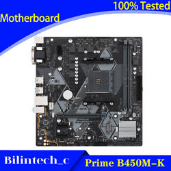 FOR ASUS Prime B450M K Motherboard Supports 3600 3400G 3300X AM4 32GB AMD DDR4 $134.85