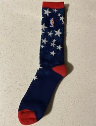 RARE Brand New NBA All Star Socks. Blue Red Men's Size L $12.99