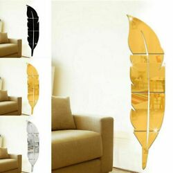 3D DIY Removable Home Mirror Wall Stickers Decal Art Vinyl Room Decor Feather $12.99