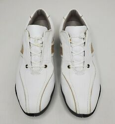 FootJoy Womens Golf Shoes Size 10M LoPro Collection White Full Grain Leather $19.99