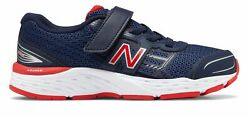 New Balance Kid#x27;s 680v5 Big Kids Male Shoes Navy with Red $39.99