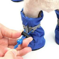 Pet Dog Shoes Waterproof Anti Slip Boots With Elastic Band Boots $11.00