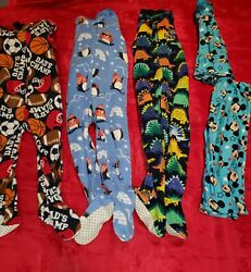 Children#x27;s Place Pajamas Boys size 2T LOT of 3 Pieces Footed Winter Warm Mickey $19.97