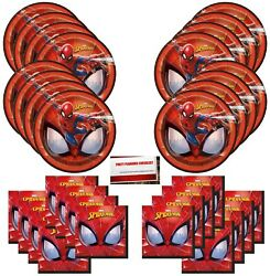 Spiderman Birthday Party Supplies Bundle Pack for 16 Guests Plus Party Plann... $17.81