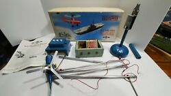 Vintage 1950s Nulli Secundus Remote Control Helicopter Set 3 Speed British Made $179.99