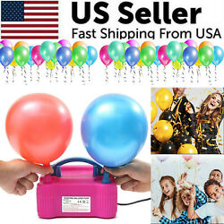 Portable Electric Balloon Pump High Power Two Nozzle Air Blower Inflator Party $18.95