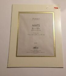 Set of 2 Furio Home Frames Mats 11in x 14in Vintage Home Office Decor Gold $13.99