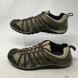 Merrell Mens 13 Hiking Sneakers Outdoor Shoes Brown Mesh Low Top Lace Up J073758 $44.69
