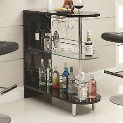 Modern Wine Liquor Bar Table Room Divider Storage Display Bottle Glass Furniture $258.75