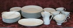 Rosenthal Classic Modern White Dinnerware Service for Eight 8 w Extras Nice $329.99
