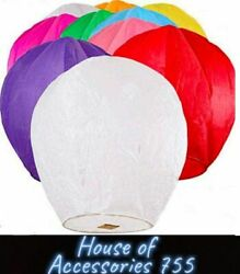Paper Chinese Lanterns Assorted Colors for Wish Birthday Wedding 10pack 20pack $24.59