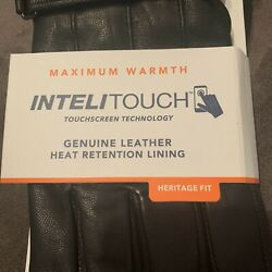 Men#x27;s Dockers® InteliTouch Leather Touchscreen Gloves Sz Lg MSRP $65 $27.99