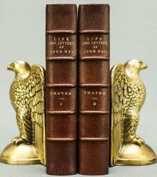 1915 The Life and Letters of John Hay Abraham Lincoln Fine Leather Bindings $600.00