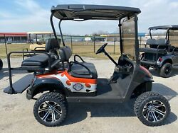 2016 EZGO 13.5 HP Gas Harley Davidson themed lifted 4 seater golf cart SSCARTS $7385.00