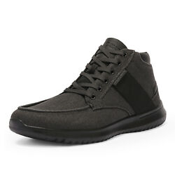 Mens High Top Fashion Sneakers Canvas Casual Shoes Comfort Walking Shoes $17.99