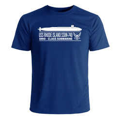 USS Rhode Island SSBN 740 T Shirt US Navy Officially Licensed $23.95