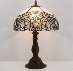 Tiffany Lamp Stained Galss Crystal Style Table Desk Reading Light Antique Gifts $145.55