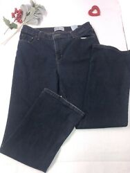 Levis Signature Womens At Waist Bootcut Dark Blue Denim 5 pocket 16 M $24.99