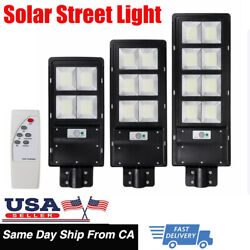 Solar LED Street Light Commercial Outdoor IP65 Area Security Road Lamp 14000LM
