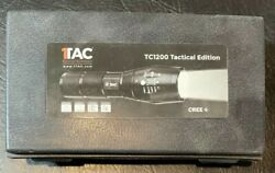 Tactical CREE TC1200 Brightest LED Flashlight on XML2 Torch Rechargeable Battery $25.00