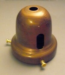 Solid Brass Floor Table Lamp Shade Holder Cup 2 1 4quot; Fitter with Key Slot HC3 $7.21