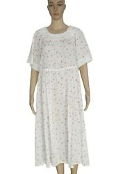 LoveShackFancy Floral Printed Embroidered Lace Short Sleeve Cotton Maxi Dress XL $220.93