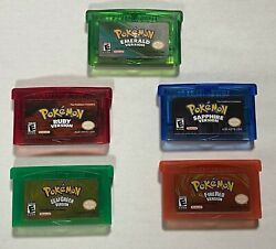 Reproduction Pokemon Gameboy Advance Games Works amp; Saves Ships From USA $14.99