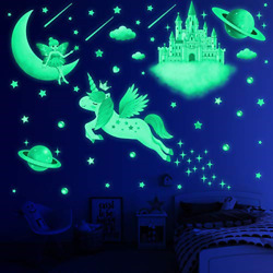 194 PCS Glow in The Dark Stars for Ceiling Wall Decals for Girls Bedroom Room $23.99