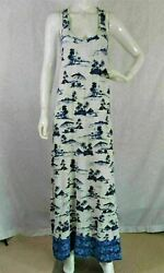 Tommy Bahama white beach palm boat print cotton casual women#x27;s Maxi Dress XS $24.00