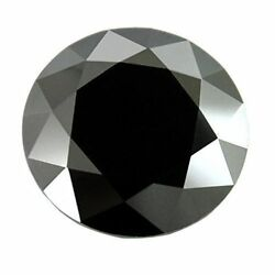 Loose 5 ct BLACK DIAMOND SOLITAIRE Excellent Cut and Luster AAA Certified $105.80