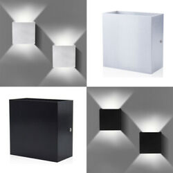 Cube LED Wall Lights Modern Up Down Sconce Lighting Fixture Lamp Indoor Outdoor $13.98