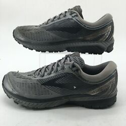 Brooks Mens 12 2E Ghost 10 Lace Up Low Running Shoes Gray Mesh 1102572E034 $39.99