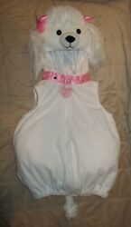 Spooky Night White Poodle Costume Size 18 Months $19.99