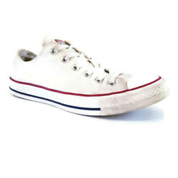 Converse Chuck Taylor All Star Womens Sz 9 White Low Lace Up Casual Sneaker Shoe $26.95