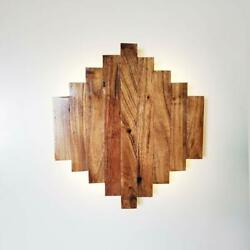 Artica Wooden Strip Style Wall Mount Warm White Led Shadow Sconce Modern lamp $34.00