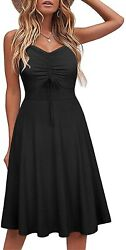 Lamilus Sundresses for Women Casual Summer Sleeveless Beach A Line Cotton Spaghe $57.97