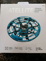 Sky Rider Satellite Obstacle Avoidance Drone DR159 Blue New sealed box $21.99