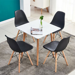 Modern 5 Piece Dining Table Sets 4Pcs Chairs Wooden Legs Kitchen Furniture New $223.99