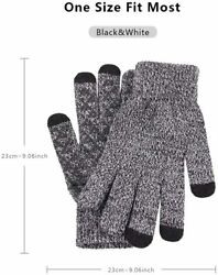Gloves For Texting Winter Knit Gloves for Men amp; Women Touch Screen Cuff Texting $14.49