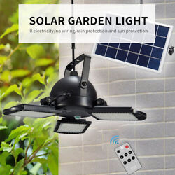 Solar Powered Garage Lights Indoor Outdoor with Remote Control 60LED Garden US $45.45